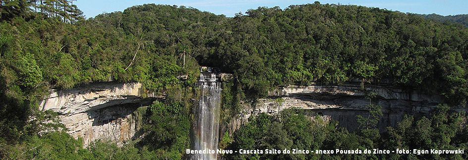 Benedito Novo - Cascata do Zinco com legenda