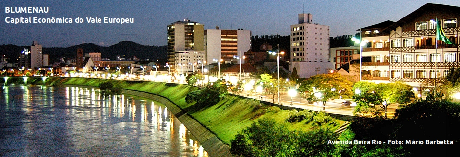 Blumenau - Avenida Beira Rio c/legenda