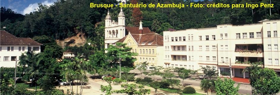 Brusque - Santuário de Azambuja com legenda Penz