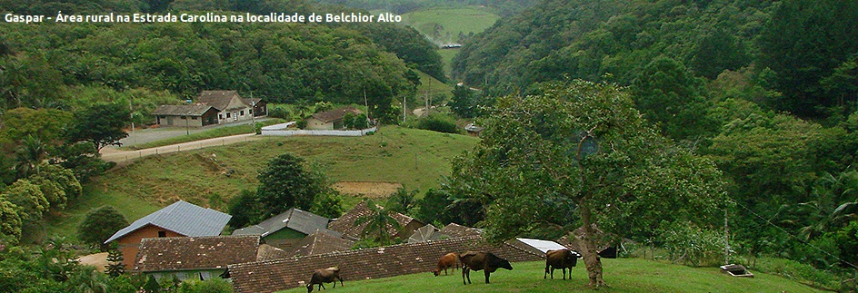 Gaspar - Área rural Belchior Alto - Legenda