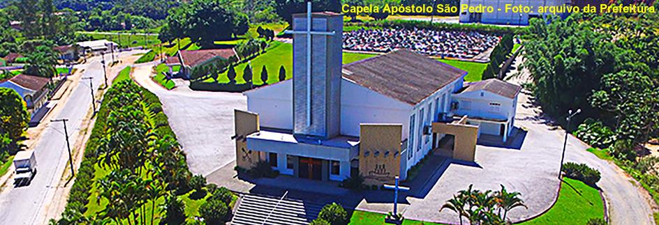 Guabiruba - Capela Apóstolo São Pedro - Foto: arquivo da Prefeitura