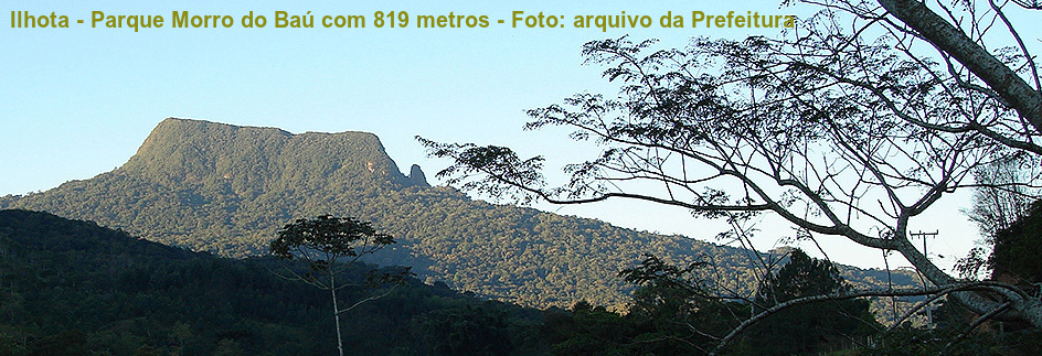 Ilhota - Parque Morro do Baú com legenda