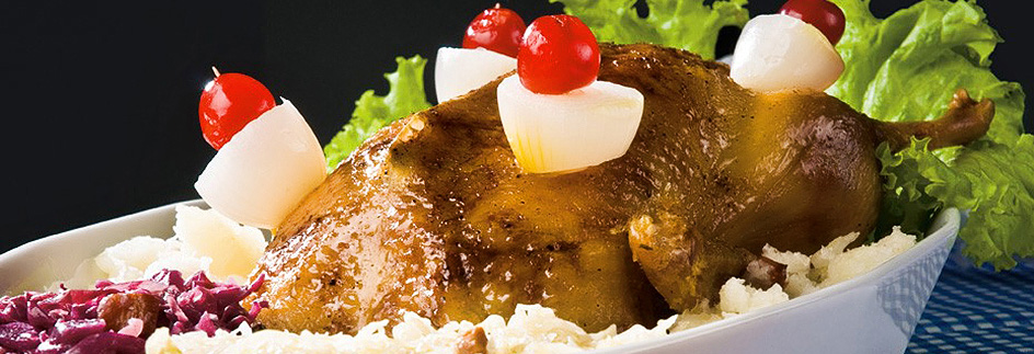 Pomerode - Gastronomia - Marreco Recheado - Foto: arquivo da Prefeitura de Pomerode