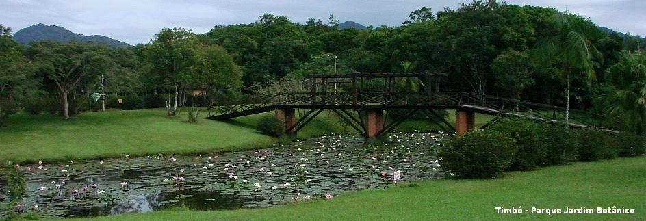 Timbó Parque Jardim Botânico com legenda